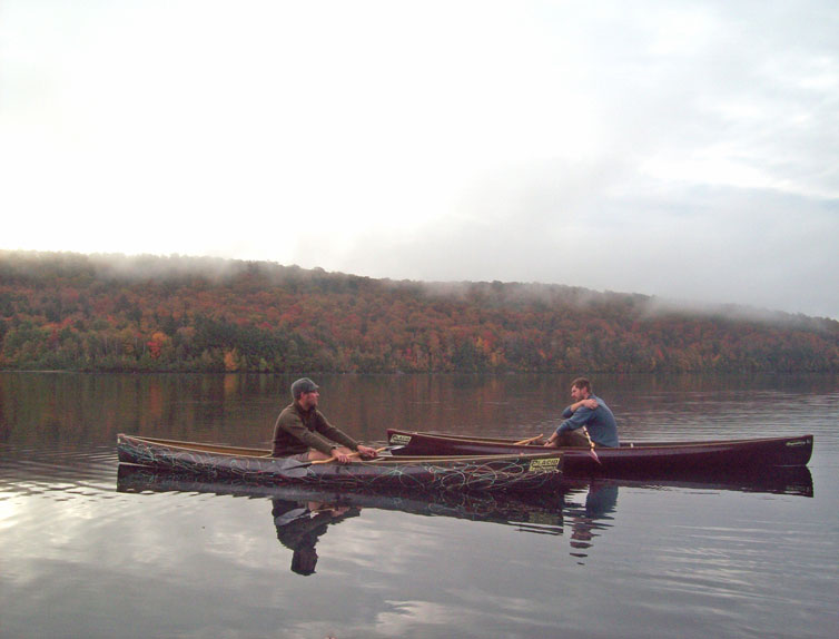 Andy and Liam paddling 8th lake